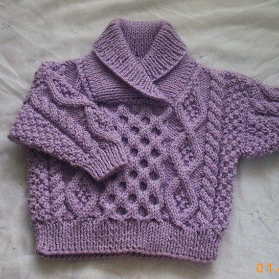 7c45f7f34 Aisling baby aran sweater - knitting pattern