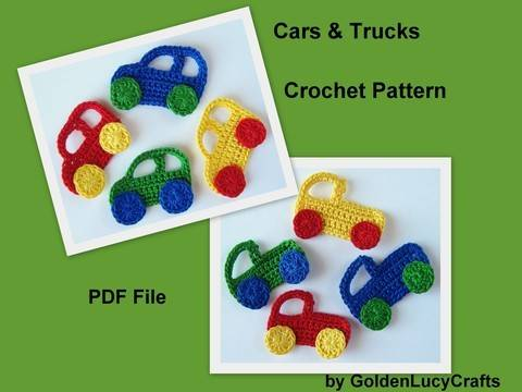 Download Crochet Pattern Car and Truck Applique immediately at Makerist
