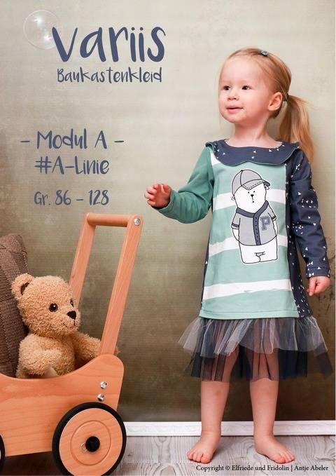 Kleid variis -Modul A- Gr. 86-128 bei Makerist sofort runterladen