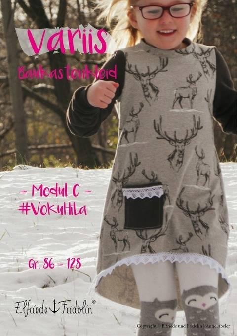 Kleid variis -Modul C- Gr. 86-128 bei Makerist sofort runterladen