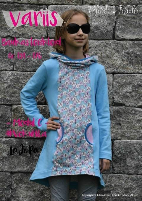 Kleid variis -Modul C- Gr. 134-176 bei Makerist sofort runterladen