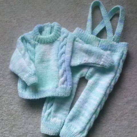 Download Sean baby sweater and leggings - knitting pattern immediately at Makerist