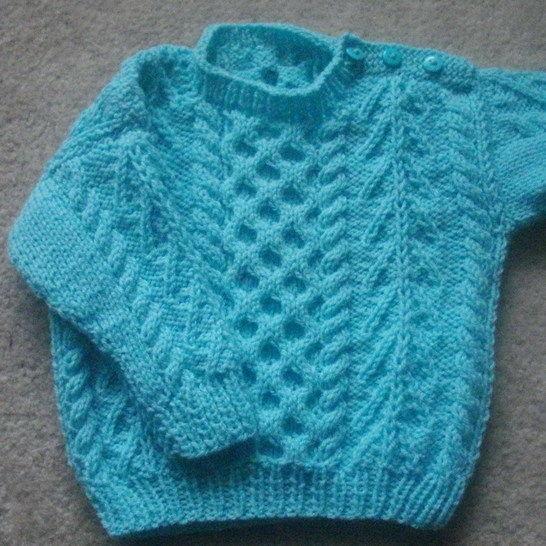 Gavin Baby And Toddler Aran Sweater Knitting Pattern