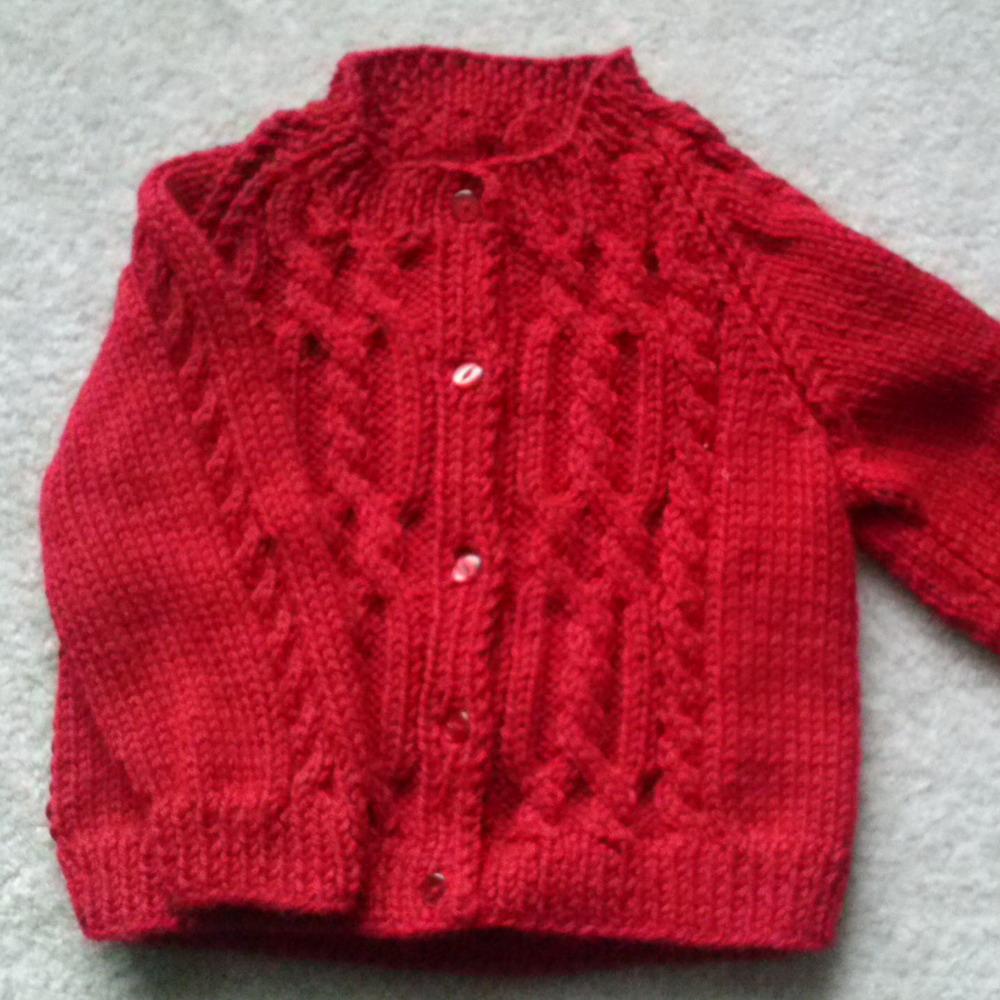 Ciaran childs aran cardigan - knitting pattern