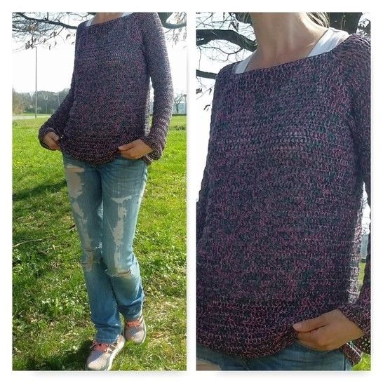 "Download Crochet Pattern Sweater ""Spring"" immediately at Makerist"