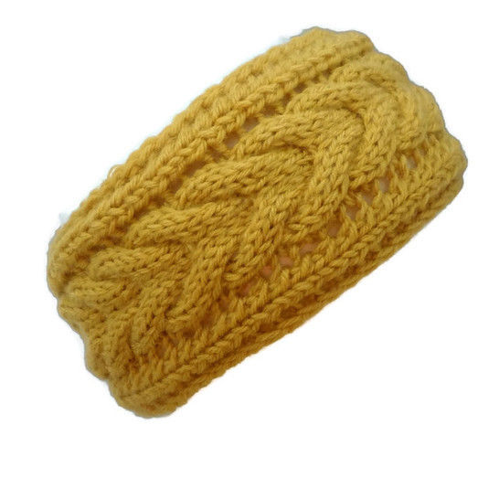Horseshoe Cable Knit Headband Ear Warmer Knitting Pattern