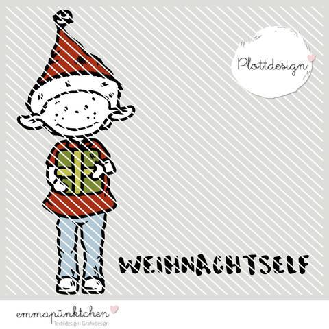 emmapünktchen ® - weihnachtself plottdesign bei Makerist sofort runterladen