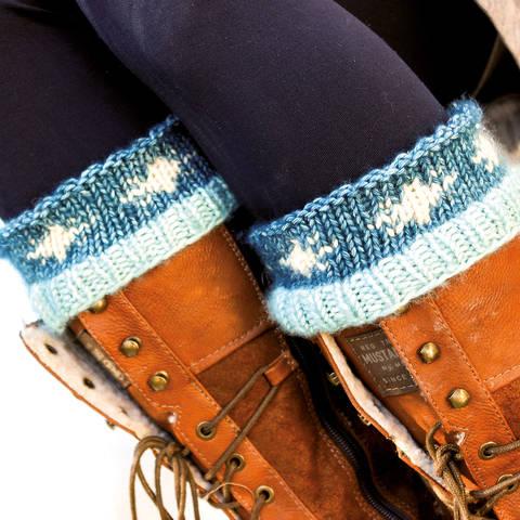 Stiefelstulpen/Wadenwärmer Schneeflocke  bei Makerist sofort runterladen