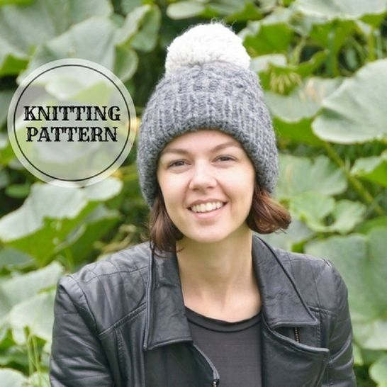 Gradient Cable Neck Cowl And Hat Knitting Pattern