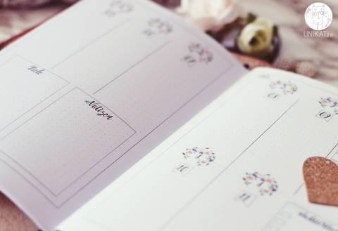 Planer Einlagen A5 printable TN Wochenkalender 1. Halbjahr 2018 bei Makerist sofort runterladen
