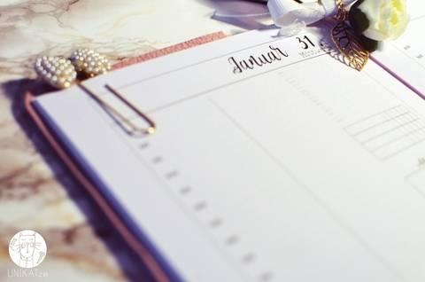 Planer Einlagen A5 printable TN Tageskalender datiert Jan/Feb 2018 bei Makerist sofort runterladen