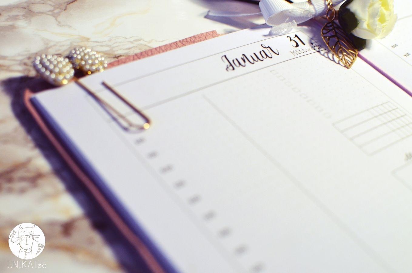Planer Einlagen A5 printable TN Tageskalender datiert Jan/Feb 2018 ...