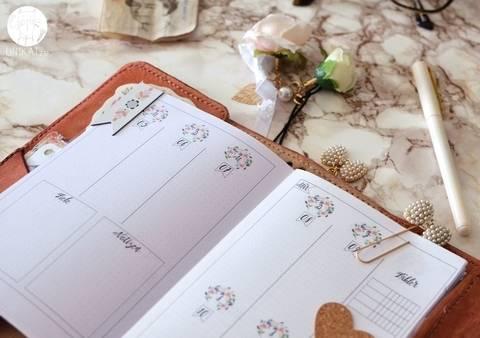 Planer Einlagen B6  printable TN Wochenkalender 1. Halbjahr 2018 bei Makerist sofort runterladen