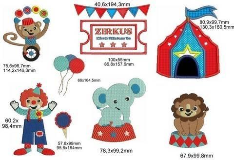 Stickdatei - Zirkus in der Stadt bei Makerist sofort runterladen