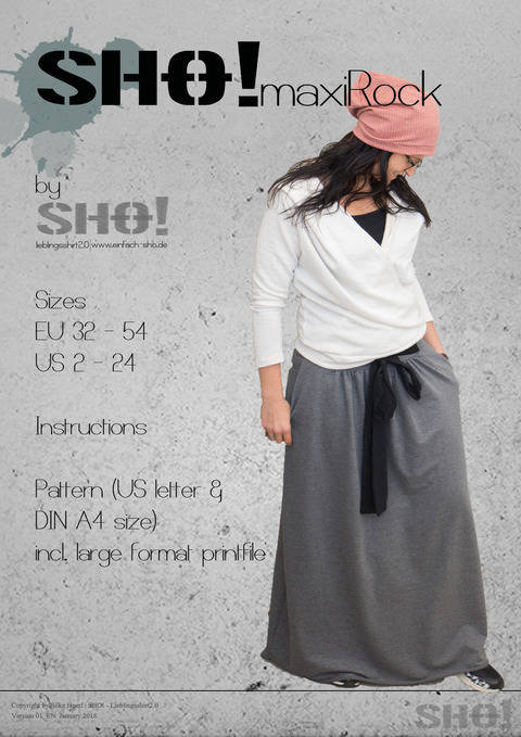 Download SHO!Maxi Rock - a pleated floor length skirt immediately at Makerist