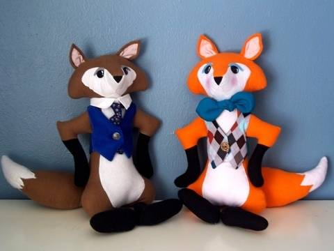 Download Stuffed Animal Fox with Vest PDF Sewing Pattern immediately at Makerist