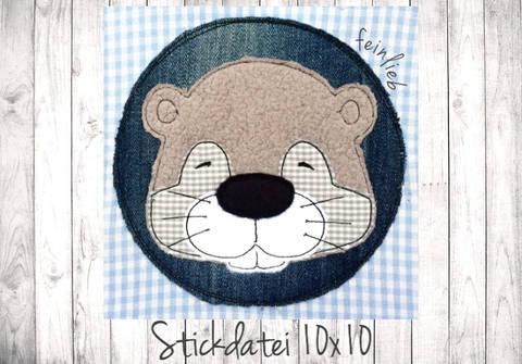 Otter Doodle Stickdatei 10x10 bei Makerist sofort runterladen
