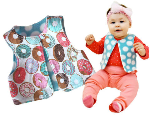 Download Classic Vest  Sewing Pattern - Age 6 Months - 12 Years immediately at Makerist