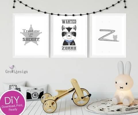 """DIY Poster """"Zorrobär"""" bei Makerist sofort runterladen"""