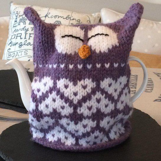 Owl Heart Tea Cosy