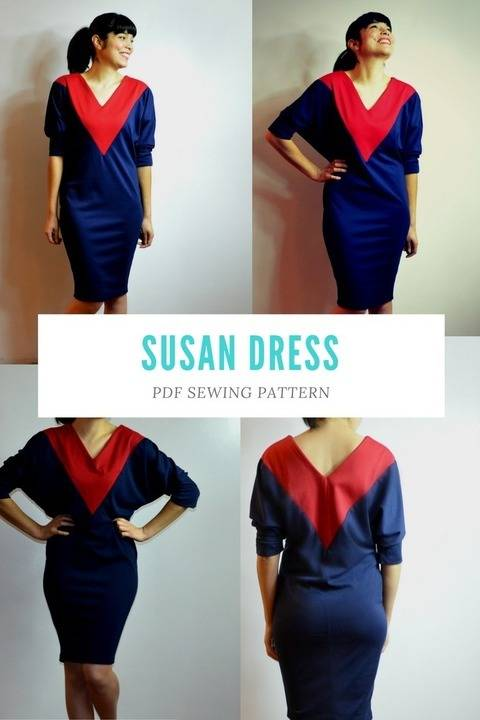 Download Susan Dress PDF sewing pattern and tutorial immediately at Makerist