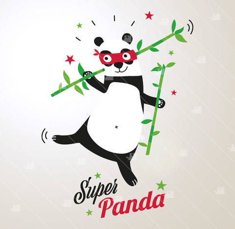 Super-Panda - Plotterdatei  bei Makerist sofort runterladen