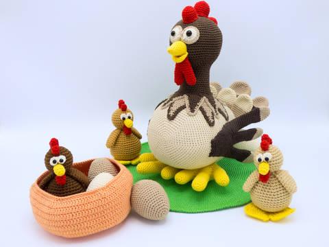 Häkelanleitung: Set Henne Berta und Hühnchen bei Makerist sofort runterladen