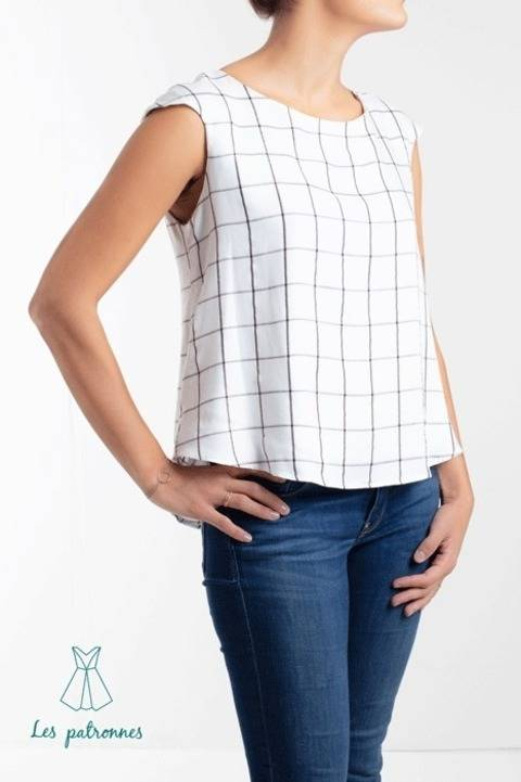 Download Matisse top Pattern - Women easy to sew top with no dart  -Beginner  immediately at Makerist