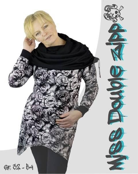 Miss Double Zipp * Gr. 32 - 54 * Zipfelshirt mit großem Kragen bei Makerist sofort runterladen