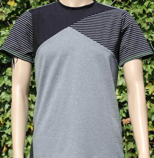 ✂ Schnittmuster Benedikt ✂ T-Shirt für Männer mit asymetrischer Teilung - Nähanleitungen bei Makerist sofort runterladen