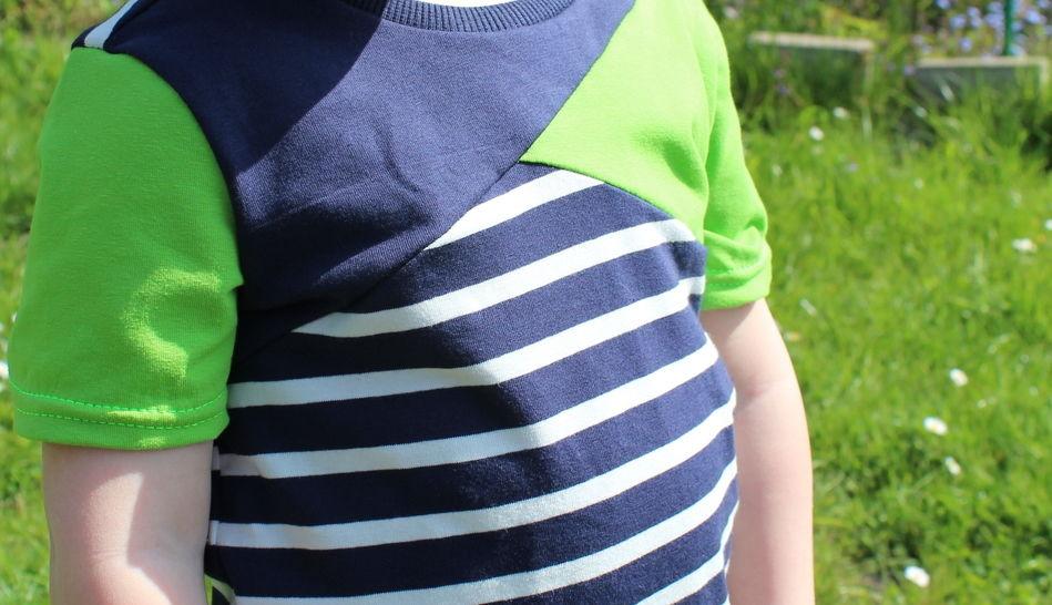 ✂ Schnittmuster Mini-Bene ✂ T-Shirt für Jungs mit asymetrischer Teilung - Nähanleitungen bei Makerist sofort runterladen