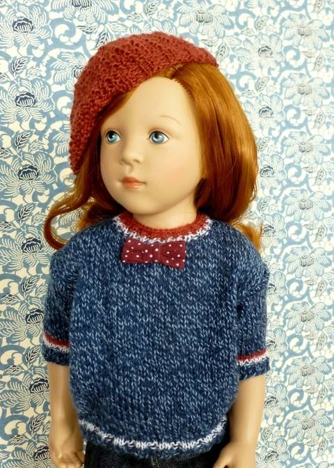 """Télécharger """"Mariane"""" Pull simplifié pour poupée de 40 cm à 50 cm tout de suite sur Makerist"""