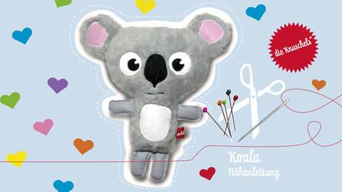 """Koala Nähanleitung und Schnittmuster von """"die Knuschels"""" bei Makerist sofort runterladen"""
