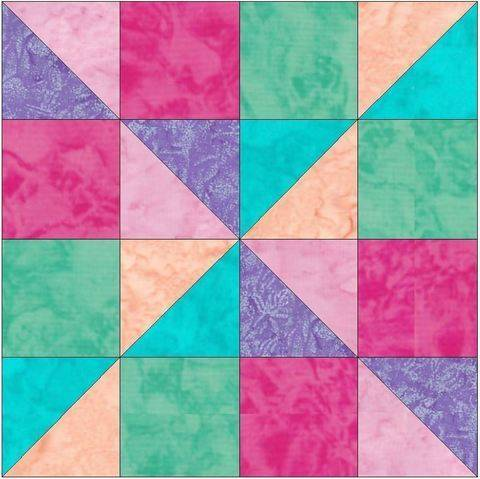 Download Scrappy Fun 15 Inch Block quilting Template Pattern immediately at Makerist
