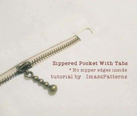 Download FREE Zippered Pocket for Bags Tutorial immediately at Makerist