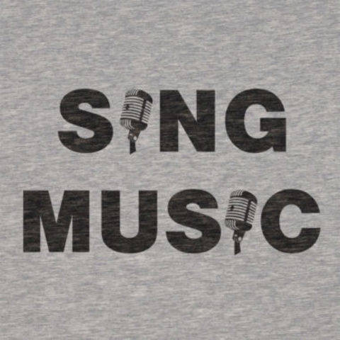 "Plotterdatei ""SING"" & ""MUSIC"" Shirts [dxf, svg] bei Makerist sofort runterladen"