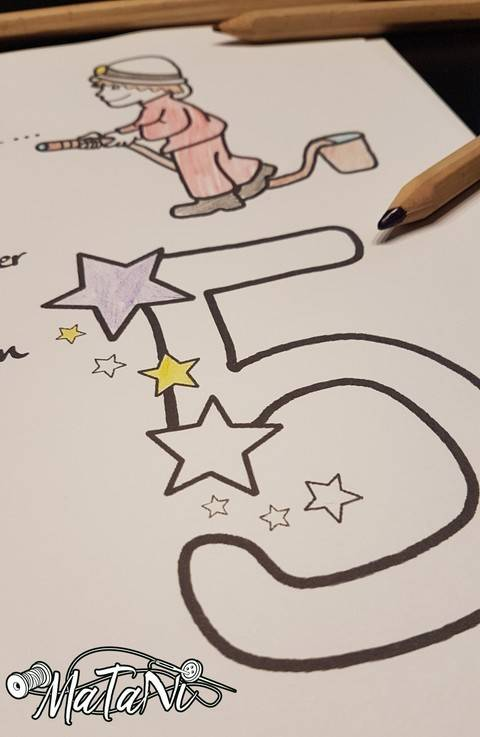 3. Geburtstagsdatei Sterne bei Makerist sofort runterladen