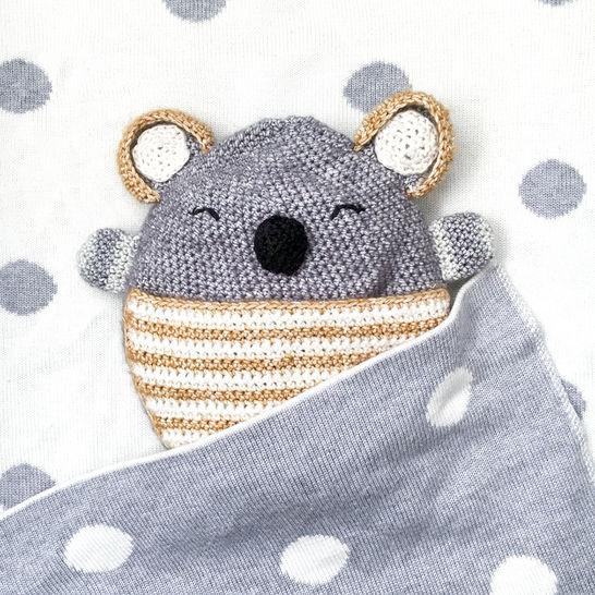 Wärmekissen und Schmusetuch Polly Koala - Häkelanleitung