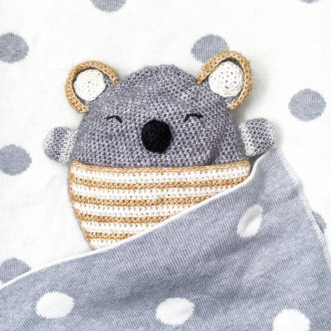 Wärmekissen und Schmusetuch Polly Koala - Häkelanleitung bei Makerist sofort runterladen