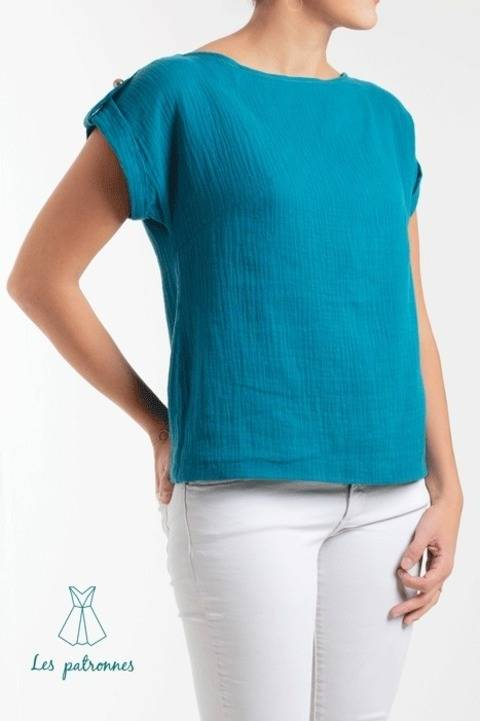 Download Judd top Pattern - Women easy to sew top -Beginner immediately at Makerist