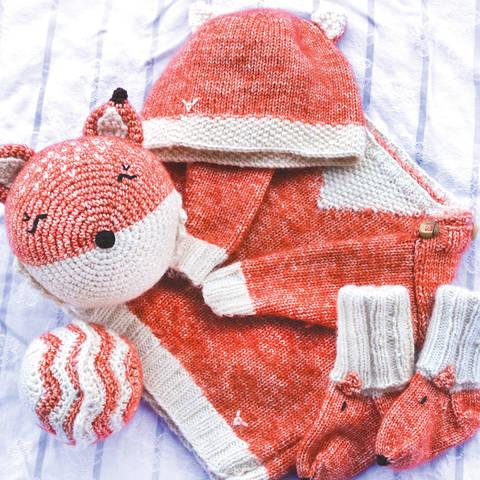 Fuchs Baby Erstlingsausstattung Set groß - Strick und Häkelanleitungen bei Makerist sofort runterladen