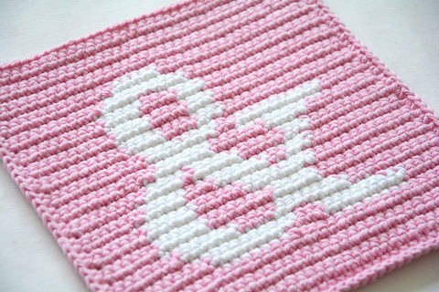Download Ampersand Potholder Pattern (with Crochet Basics) immediately at Makerist