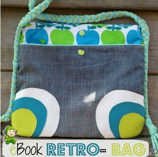 Ebook Retro Bag , Nähanleitung, Umhängetasche - Nähanleitungen bei Makerist sofort runterladen