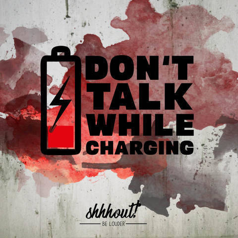 DON'T TALK WHILE CHARGING - Plotterdatei bei Makerist sofort runterladen