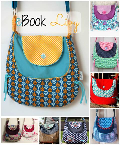 Ebook Tasche Livy, Nähanleitung, Schnitt bei Makerist sofort runterladen