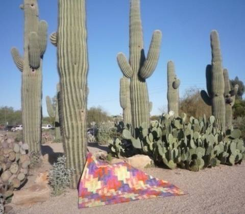 Download Saguaro Sunset Tesselating Jelly-Roll Quilt Pattern immediately at Makerist