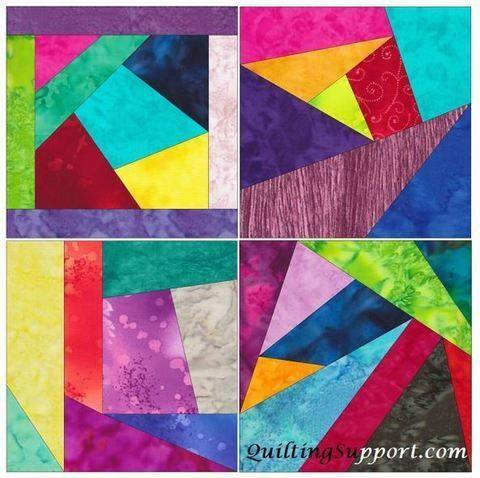 Download Crazy Block Patch 10 Inch Paper Piece Foundation Quilting Pattern immediately at Makerist