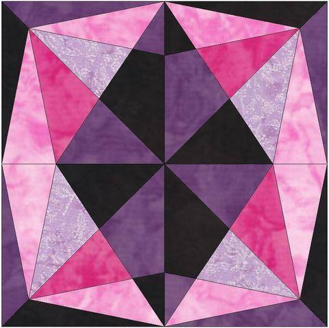 Download Jewel Star 15 Inch Quick Quilting Block Template Pattern immediately at Makerist