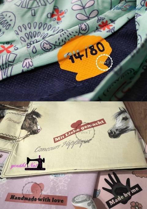 """Plotterserien-Doppelpack """"Größen- und Handmade-Labels"""" bei Makerist sofort runterladen"""