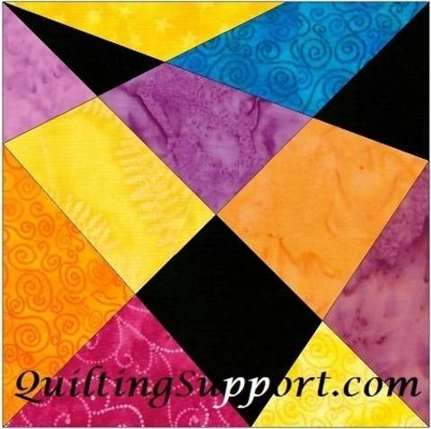 Download 10 Inch Crazy Fun Paper Piece Foundation Quilting Block Pattern immediately at Makerist